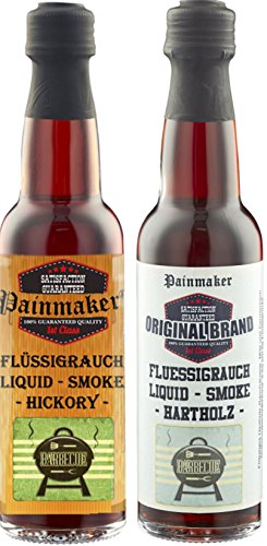 Painmaker`s Liquid Smoke Hickory und Hardwood 2 x 100ml