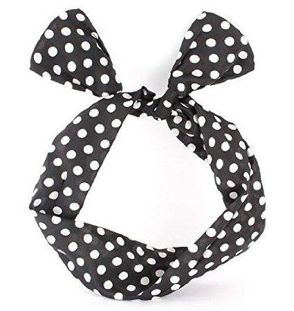 Schmuckanthony bandeau miya ® coussinet pour fille rimchen élastique à cheveux à pois rockabilly fils flexible bunny oreille nouer bow bandeau élastique en cadeau