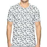 Photo de K0k2t0 3D Printed T Shirts,Sketched Hand Drawn Seashell Outlines Florida Fighting Conch and Shark Eye par K0k2t0