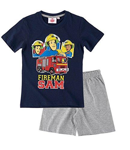 Feuerwehrmann Sam Jungen Shorty-Pyjama - marine blau - 104
