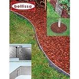 Belissa - Bordure per aiuole in metallo, 4 pezzi *, dimensioni totali: 4720 x 130 mm