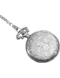 Reloj de bolsillo grabado con tapa y cadena - Christian Gar