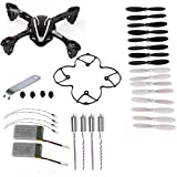 HB HOMEBOAT® Hubsan X4 H107L 8-in-1 Quadcopter Black/White Spare Parts Crash Pack by Hb Homeboat