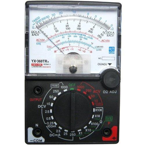 Analog Multimeter Sinometer 8 Funktionen 19 Bereiche Spiegelskala (black)