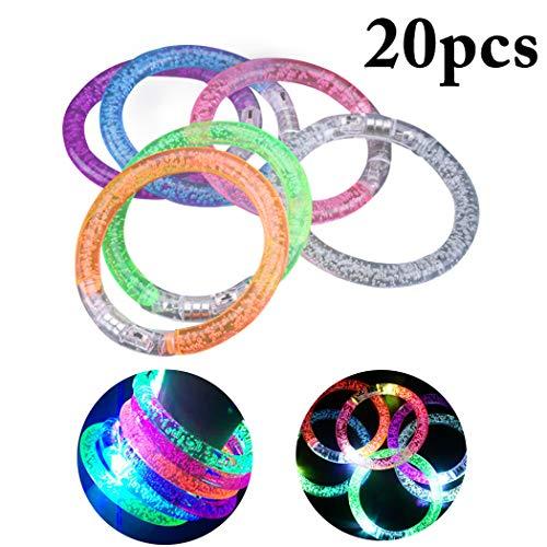 Joyibay 20 Stück Kinder Licht Armband Party Blitz Armband LED Licht Armband für Kinder Erwachsene