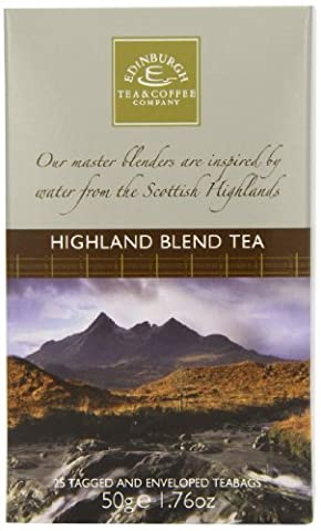 Edinburgh Tea and Coffee Company Highland Blend 25 Envelope Teabags 50 g (Pack of 4)