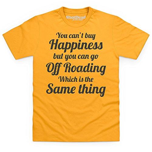 Off Roading Happiness T-Shirt, Herren Gelb