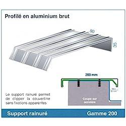 SUPPORT DE CLIPPAGE POUR COUVERTINE ALUMINIUM (GAMME 200)