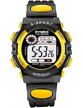 Children 's watch wasserdicht luminous multi - functional sports electronic-C