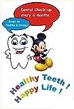 #7: MAHALAXMI ART Dental Dentist Poster Healthy teeth happy life no. 1 Wall Poster Print on Art Paper 13x19Inches, Multicolor