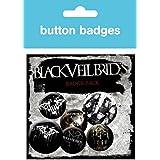 Black Veil Brides - Darkest, 4 X 25mm & 2 X 32mm Chapas Set De Chapas (15 x 10cm)