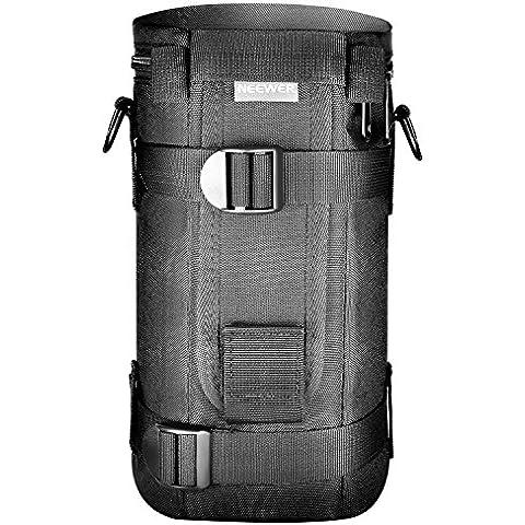 Neewer® NW-L2070 bolsa del hombro negro acolchado resistente al agua bolso estuche con correa para lente objetivo 70-200mm, como el Canon 70-200/2.8IS, 100-400, 180mm / Nikon 70-200, 80-400, 180-2.8