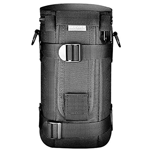 Neewer NW-L2060 Black Padded Water Resistant Lens Pouch with Shoulder Strap for 80-200 mm Lens, Such as Canon 70-200/4L 4LlS and Nikon 70-200/4G 80-200