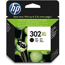 HP 302XL - Cartucho de tinta para HP DeskJet 2130, 3630 HP OfficeJet 3830, 4650 HP ENVY 4520, Color negro