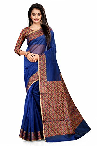 Asavari Cotton Saree (Anw16-Bb-Star-Roy_Royal Blue)