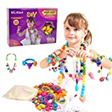 Joyeria Pop Beads Kid Toy - Hanmun HS6621 Nuevo regalo de Navidad 180 Piezas DIY Beads Fashion Set para collar Pulsera Art Crafts Motor Skill Training Toy para niñas 3+