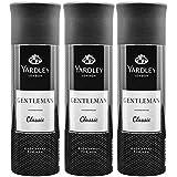 Yardley London Gentleman Classic Deo Body Spray for Men, 220ml Each (Pack of 3)