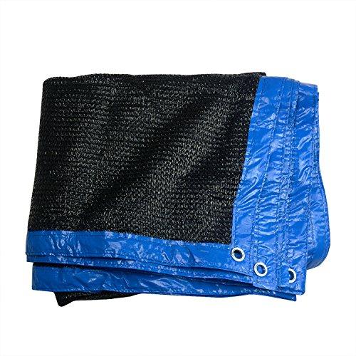 70% Noir Noir solaire Sun Abat-jour en maille filet Coutures Edge avec œillets 2M x 5M noir