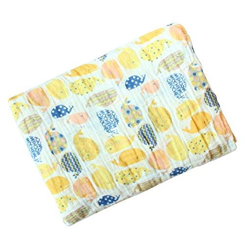 Baby Swaddle Blanket, Baywell Baumwolle Baby Gaze Wrap Decke Pucktücher Niedlich Kostüm Fotoshooting (A6(Wal))