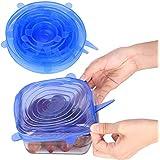 GHB Couvercles Extensibles en Silicone Lot de 6 Tailles Différentes Convient au Micro-ondes/ le four/ le frigo/ le lave-vaisselle ect