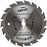 Wolfcraft Kreissäge-Blatt 140  X 12,75 18Z Hartmetall