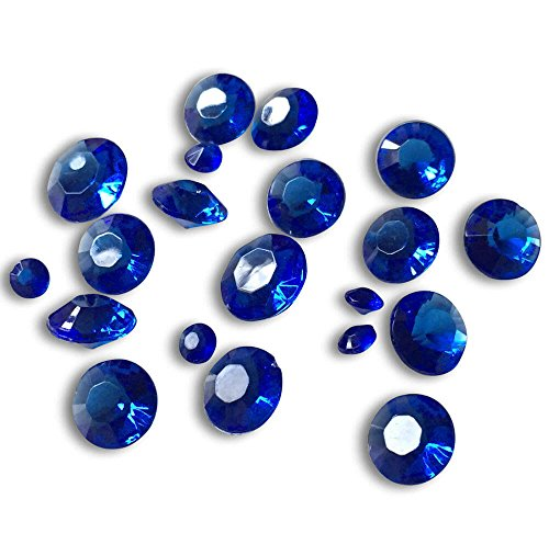 talle, Royal Blau, 45g, Deko-Kristalle, Deko-Diamanten, Tisch-Konfetti, Dekoration zur Hochzeit, Tischdekoration, ca. 300 Stück (Royal Blau Tischdekoration)