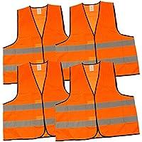 bedruckt R/ückendruck Sicherheitsweste EN ISO 20471 Orange Warnweste mit Text Besucher