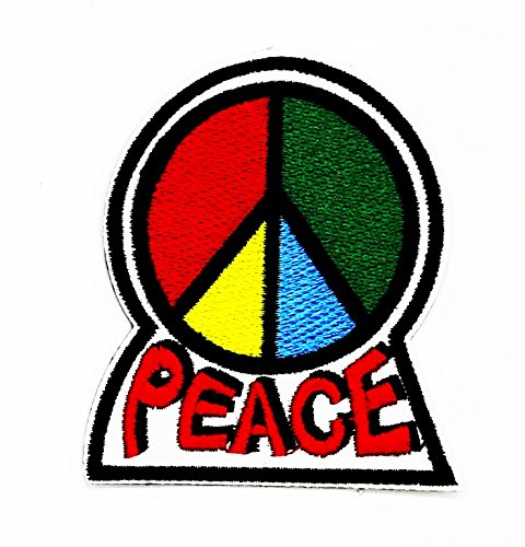 rabana Peace Symbol Sign Cartoon Kids Kinder Cute Animal Patch für Heimwerker-Applikation Eisen auf Patch T Shirt Patch Sew Iron on gesticktes Badge Schild (Kostüme Handwerk Das Film)