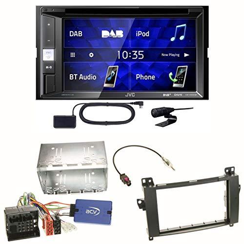 JVC KW-V255DBT USB Autoradio Touchscreen Bluetooth Moniceiver Autoradio DVD CD MP3 WMA DAB+ Digitalradio Einbauset für Mercedes Vito W447 (Autoradio Jvc Dvd)