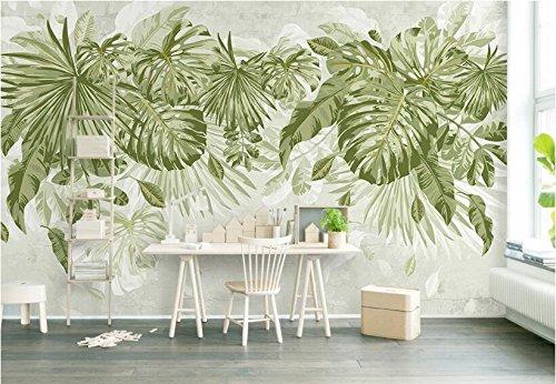 Träume Blatt (Yosot 3D Tapete Traum Wand Papier Frisches Gras Grüne Blätter Pflanze Persönlichkeit Dschungel Aquarell Tv Wände-140Cmx100Cm)