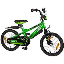 Casco Bici da bambino Little Dax 16pollici Timmy, verde/nero con 552V8a-ld-194