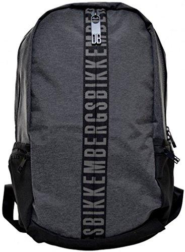 Zaino Uomo Donna Bikkembergs Backpack Men Woman Db-Zip BackPack Grey Melange D4803