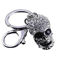 Beiersi Crystal Skull Metal Pendant Keyring Keychain Gift (Style 3)