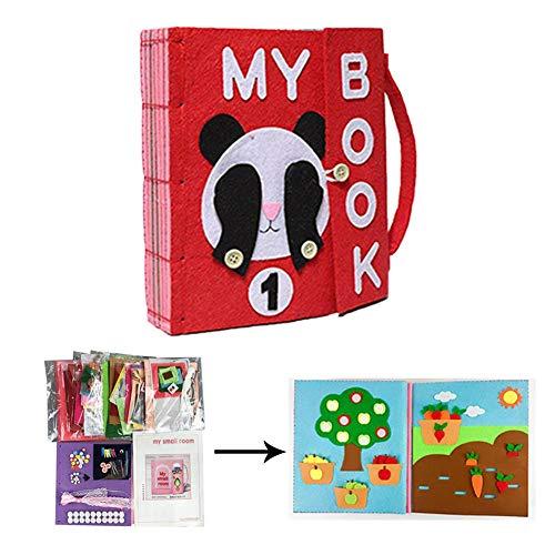 rosemaryrose Libros De Bricolaje Blandos De Material Montessori Tableros De Aprendizaje De Vestir Y Conocer Objetos Libros De Bricolaje Par ABebés De 1-3 Años