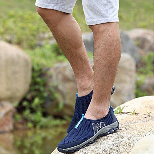 DorkasDE Mesh Schuhe Atmungsaktiv Wassersportschuhe Sneaker Strandschuhe für Damen Herren Kinder Dunkelblau