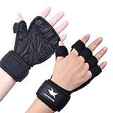 SUPRBIRD Trainingshandschuhe, Sport Fitness Handschuhe, Überlegener Handgelenkunterstützung, für Herren und Damen. Perfekt für Fitnessstudio, Gewichtheben, Calisthenics, Pull-Ups