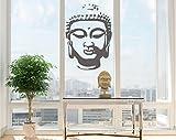Wandtattoo Buddhakopf Aufkleber Buddha Kopf Wandaufkleber 60x80cm in 33 Farben matt oder glänzend