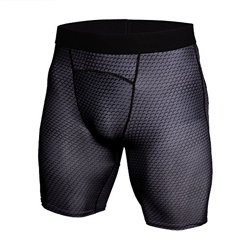 Festnight Krokodil-Korn Schnelltrocknend Sports Kompressionsshorts Elastische Herren Sport Shorts Kurze Hose Laufen Funktionsunterwäsche für Männer