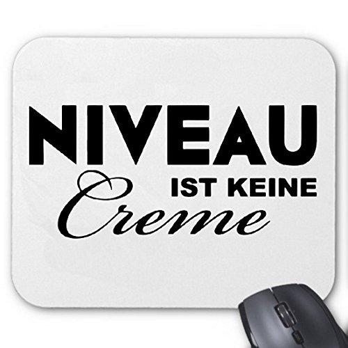 Mousepad (Mauspad) Niveau Ist Keine Creme Nivea Spass Party Kult Retro für ihren Laptop, Notebook oder Internet PC (mit Windows Linux usw.)