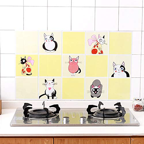 Ölbeständiger Aufkleber, Lampenschwarzmaschine, Hochtemperaturaufkleber, Wandaufkleber Für Die Küche, Wasserdichter Fliesenaufkleber, Kitty ()