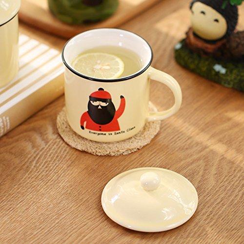 TIANLIANG04 Becher Kaffeetassen Bügeleisen Tasse Tasse Keramik Becher Mit Deckel Office Classic...
