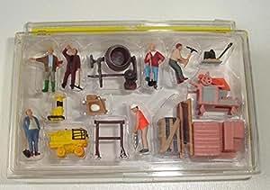 Lot de 6 figurines pour chantier de construction NOCH 15513 H0-Echelle HO