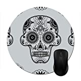 Blue Sweet Sugar Skull Mouse Pad -Stylish Office Computer Accessory 7.87in