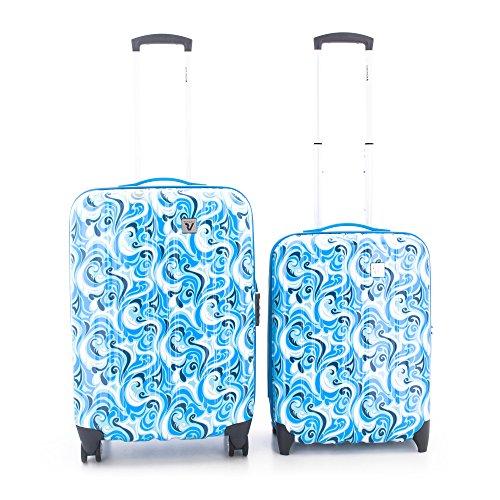Roncato Trolley Juego de maletas, 70 liters, Azul (Azzurro)