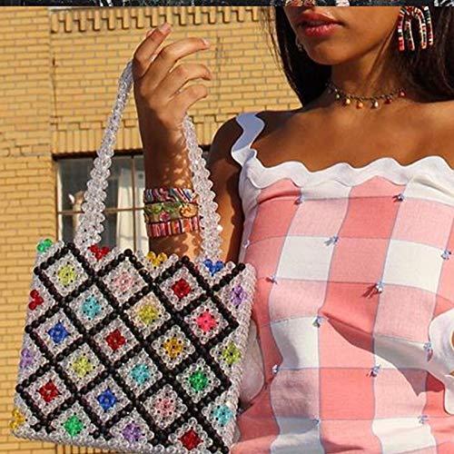 Bag-Haigeen Perlen Tasche Regenbogen handgewebte Perle Promi Handtasche Europa USA einzigartiges Design Bunte Damen Party 27