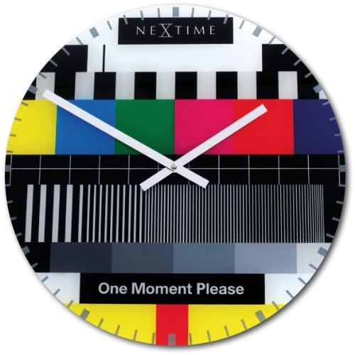 nextime-8607en-wall-clock-testpage-43-cm-glass