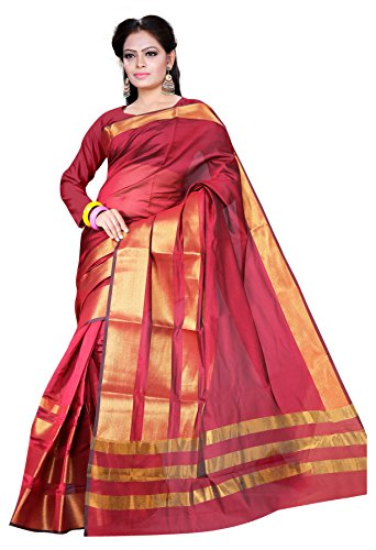 Asavari Saree (As15Amn-4Pt-Mhr_Scarlet Maroon)  available at amazon for Rs.699