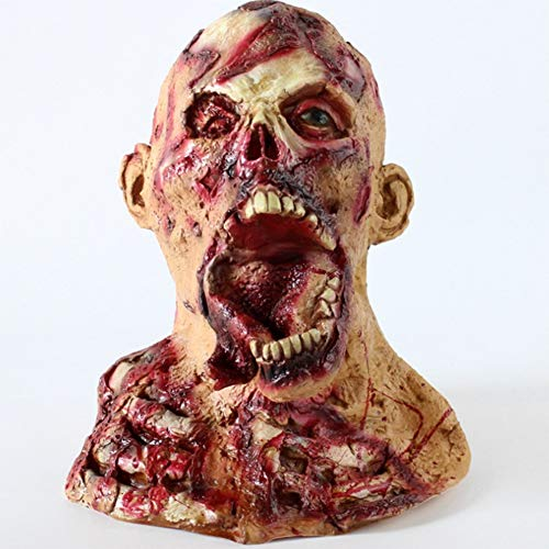 S+S Halloween Maske Ekelhaft Zombie Terrorist Latex Maske Halloween Resident Evil Vampire Kopfbedeckung Tyrann Rotten Face Nonnen Maske Kostümparty