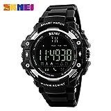 ZEZKT-Uhr┇Fitness Armband Smartwatch mit Pulsmesser, Herzfrequenz, Aktivitätstracker, Wasserdicht IP67 -Bluetooth Smart Watch Fitness Armband (Silber)
