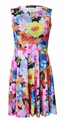 New Girl Fashions - Robe - Femme XX-Large Big Floral